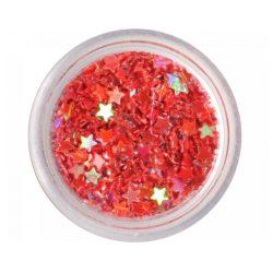 Estrellas plásticas - rojo