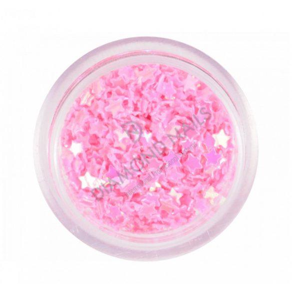 Estrellas plásticas - rosa oscuro