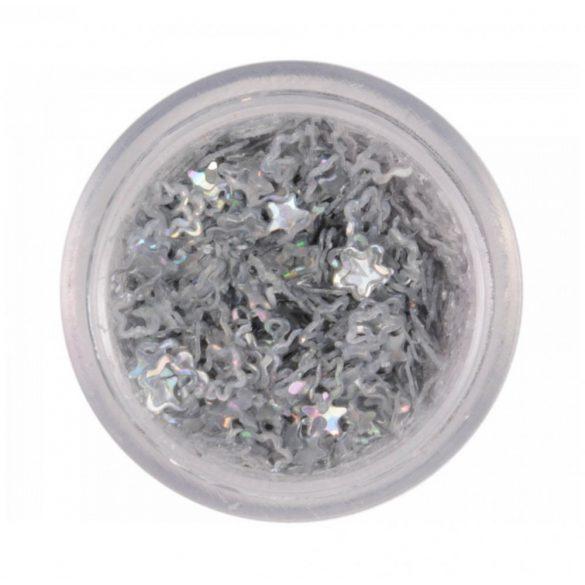 Flores de plástico - plata