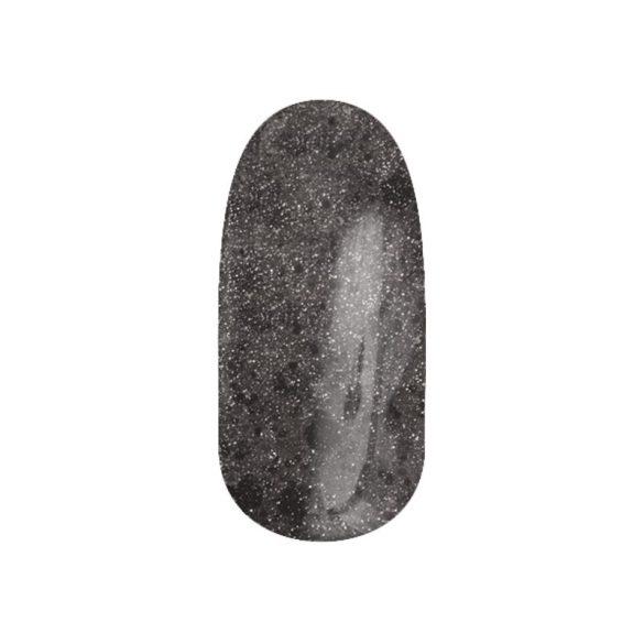 Gel Esmalte 116 - Brillos Dorados con Negro Hexágono