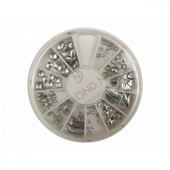 240pcs de arte remache de plata de acrílico Decoración de Uñas