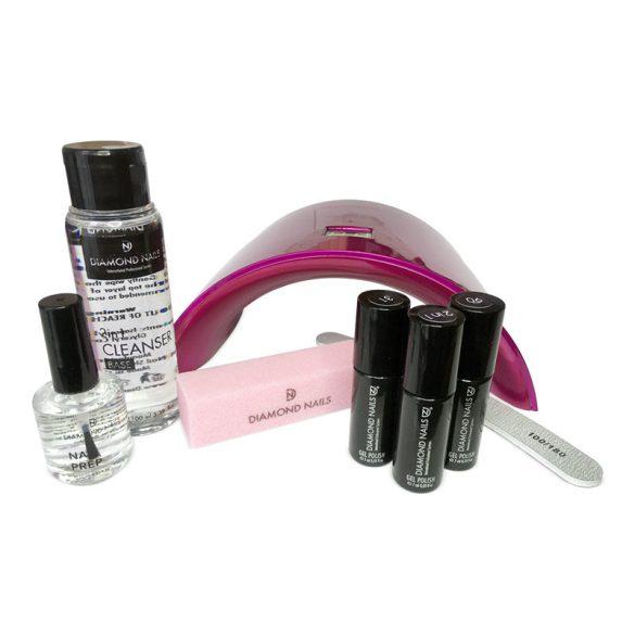 Kit de inicio de Esmalte Permanente - Lámpara C16 UV/LED Pink