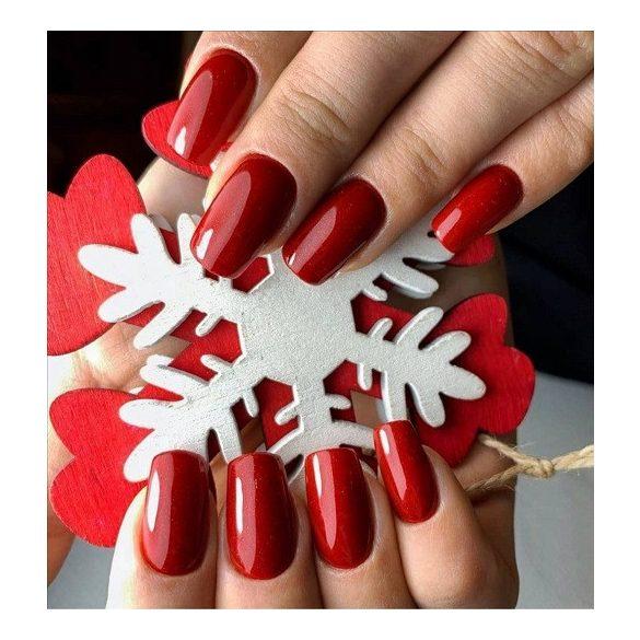 Gel Esmalte 255 - Christmas Red (brillos pequeños)