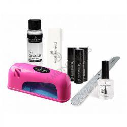 Kit de inicio - Esmalte permanente - Normal - Lámpara UV 9W (Rosa)
