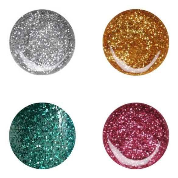 Gel de 4 Colores con Purpurina