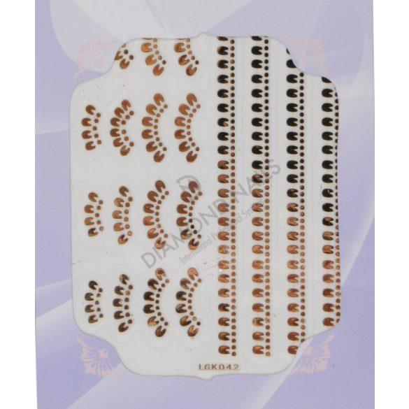 Pegatinas para uñas-plateado-IGK42