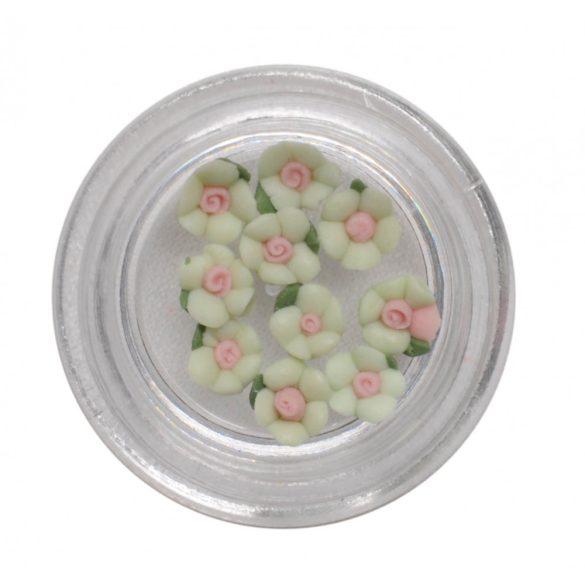 Flores de porcelana  3mm - verde claro