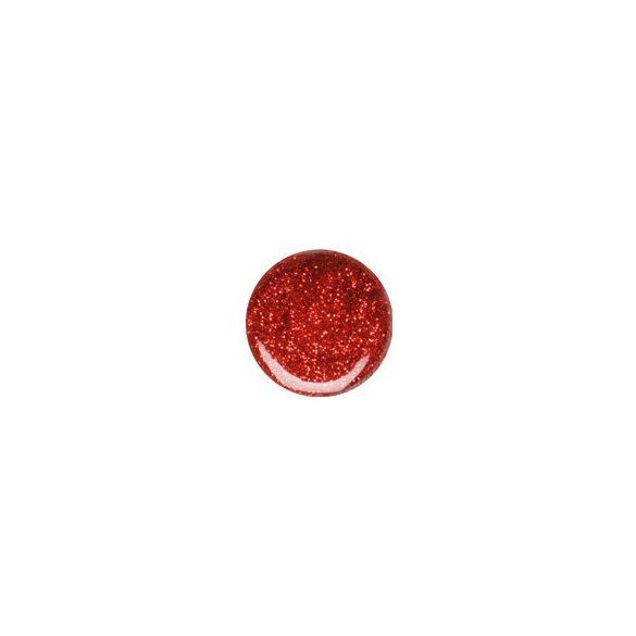 Gel de Color Rojo con Purpurina 070
