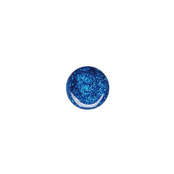 Gel de Color Azul con Purpurina 074